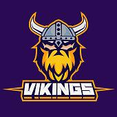 Modern professional logo for sport team. Viking mascot. Vikings, vector