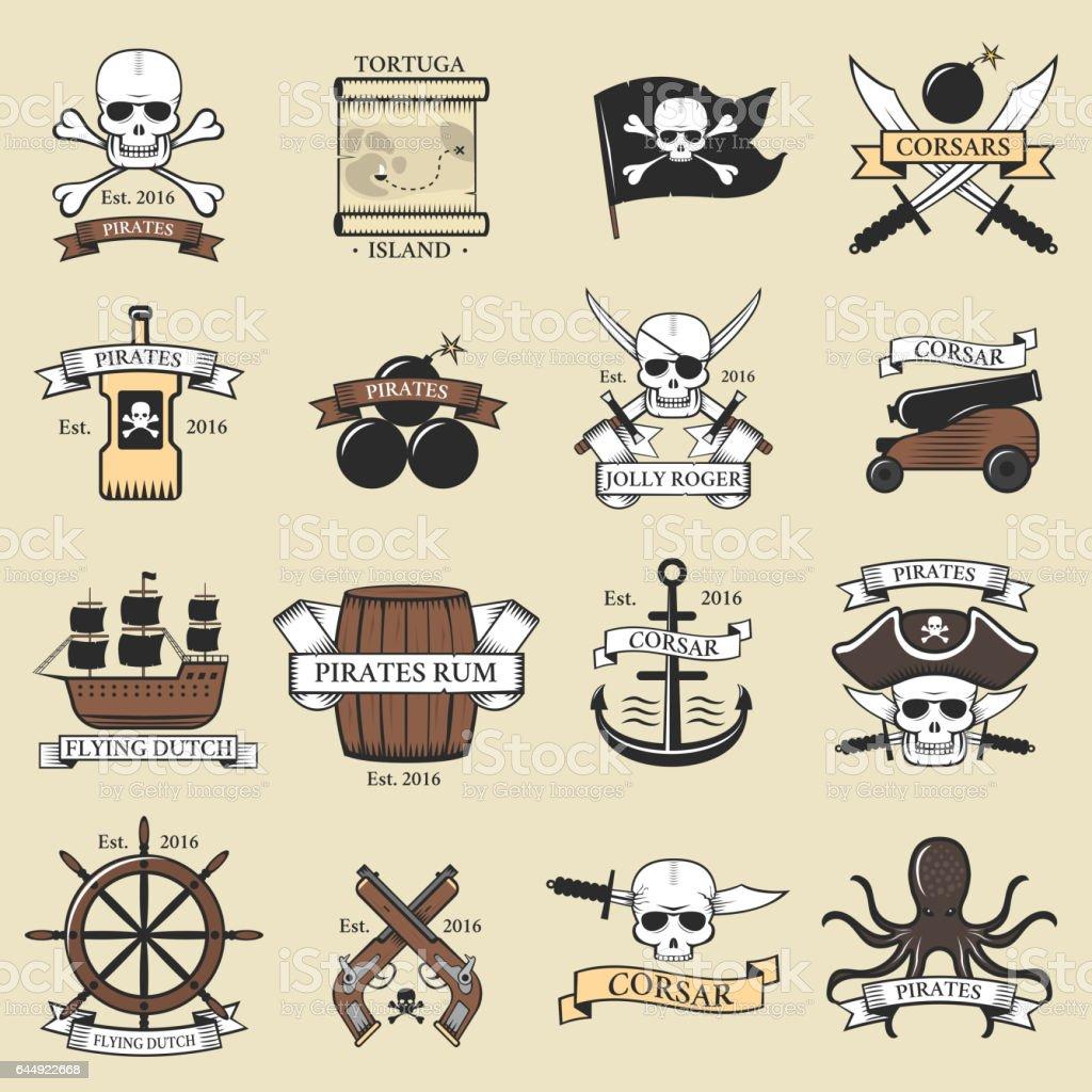 Ilustración de Marina De Logotipo Moderno Pirata Profesional ...