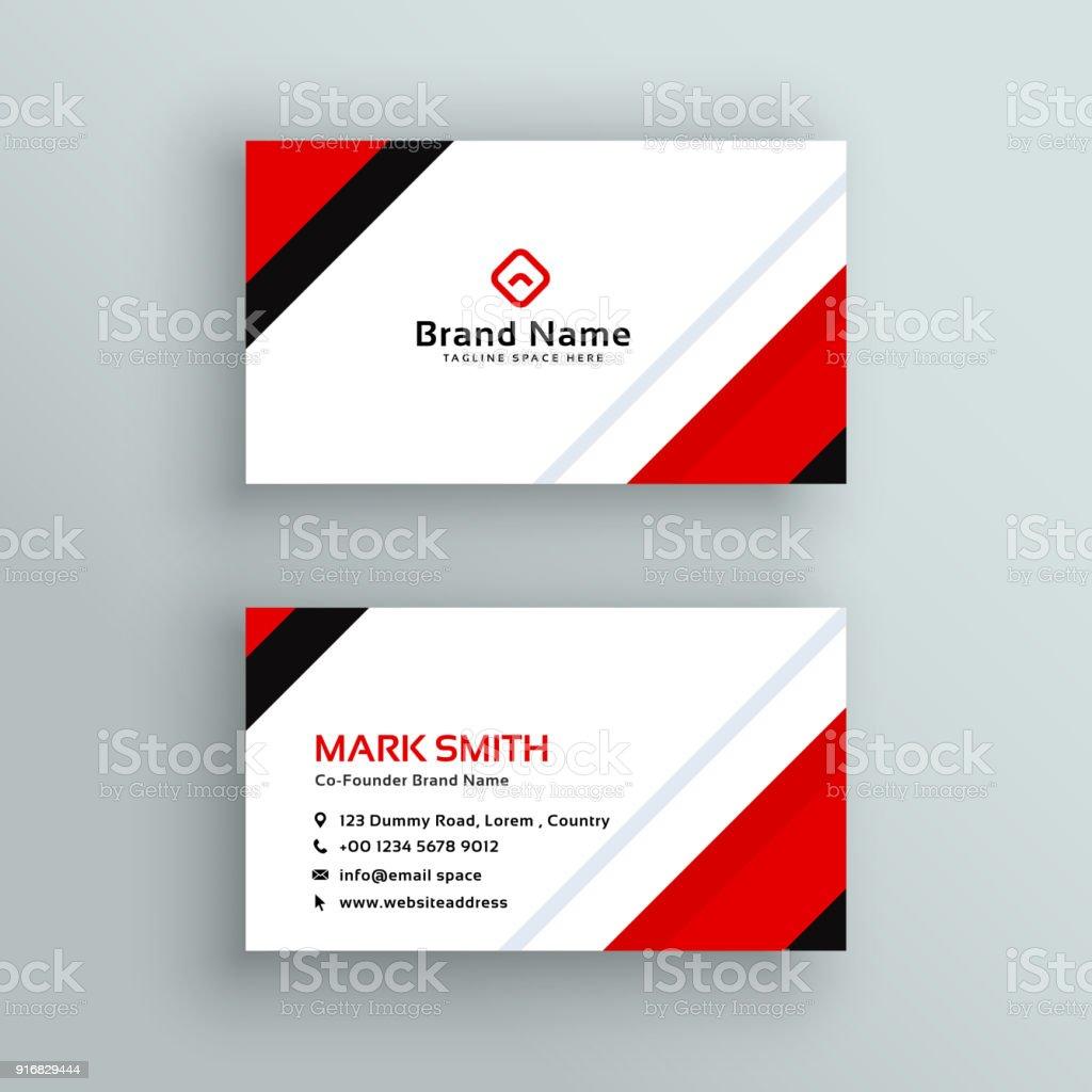 Moderne Professionelle Rot Visitenkartendesign Stock Vektor Art Und Mehr Bilder Von Abstrakt