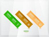 Modern progress infographics banners
