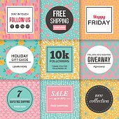 Modern promotion banners template for social media and mobile apps