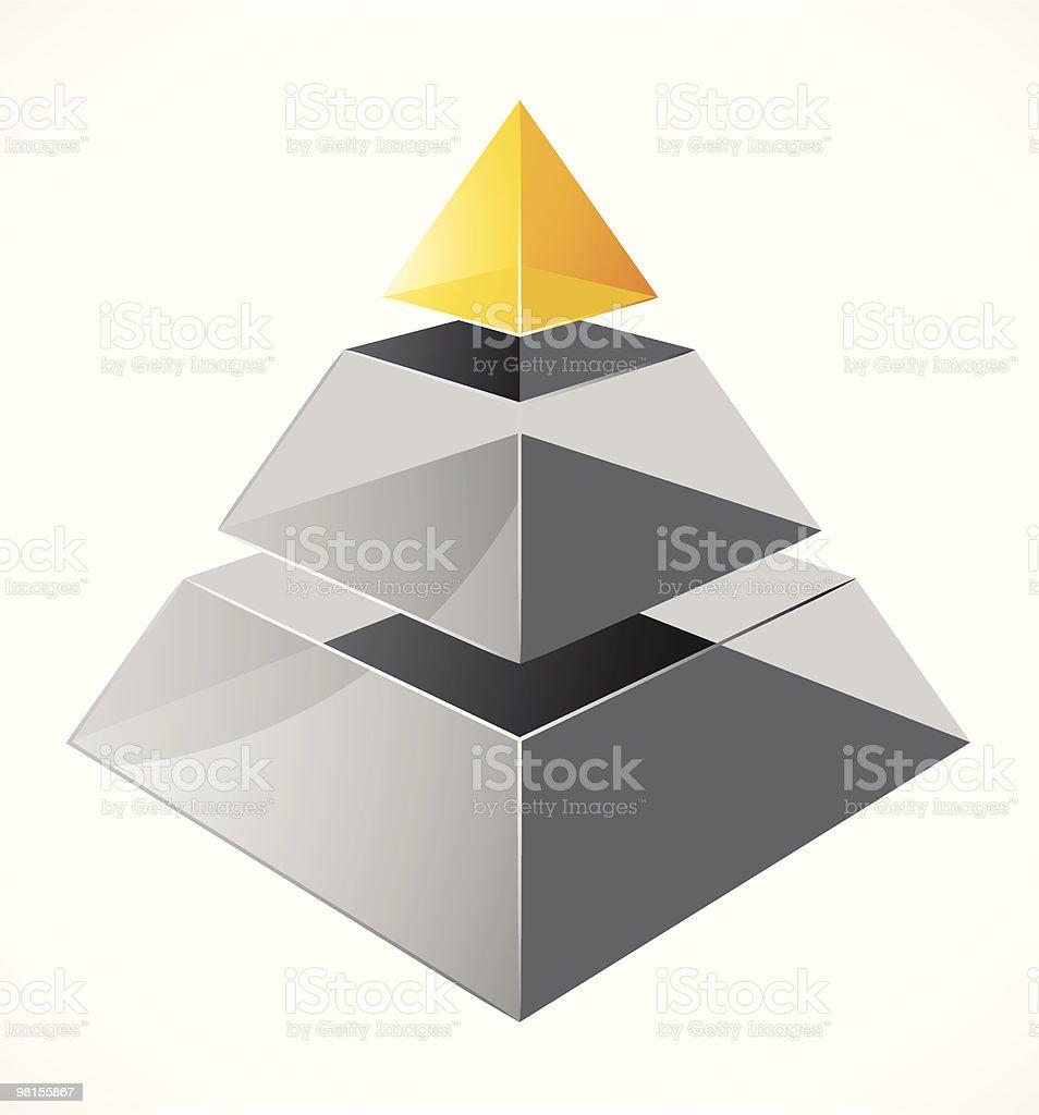 Piramide design moderno piramide design moderno - immagini vettoriali stock e altre immagini di astratto royalty-free