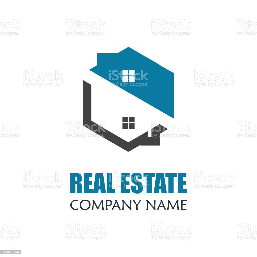modern real estate logo template vector illustration creative