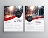 modern red business flyer poster design template