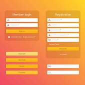 Modern registration and login form.