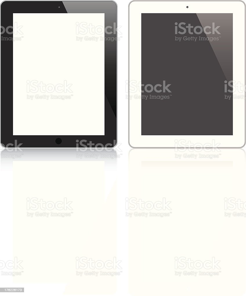 Modern responsive tablet vector royalty-free stock vector art