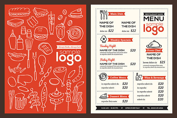 sandwich shop menu template - royalty free sandwich shop clip art vector images