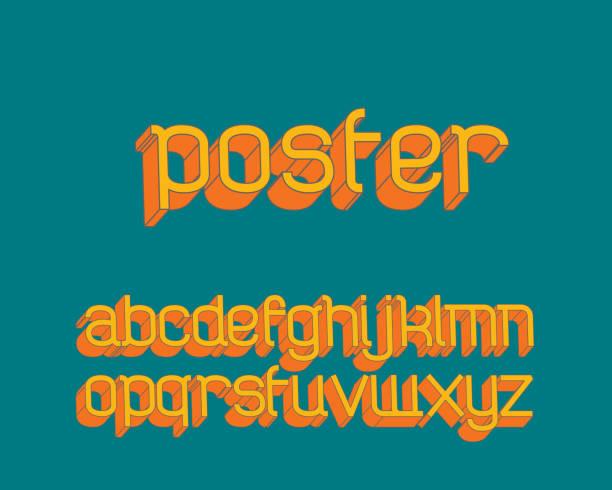 Vector de fuente retro moderno - ilustración de arte vectorial