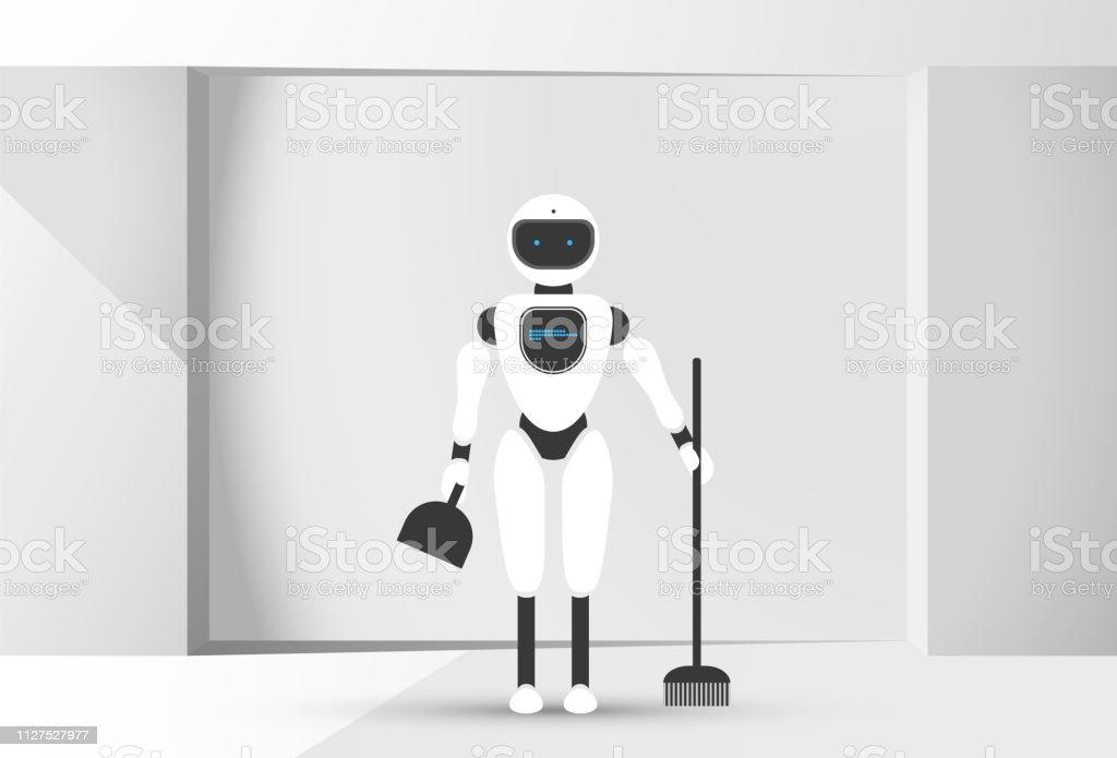 modern robotic vector illustration with stylish humanoid robot in rh istockphoto com