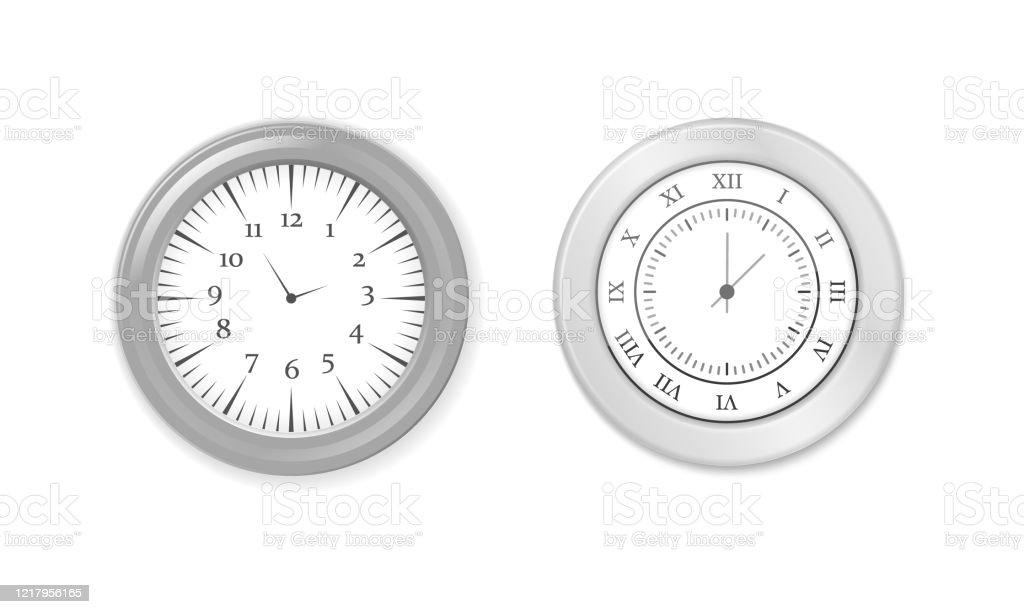 Modern Round Clocks Stock Illustration Download Image Now Istock