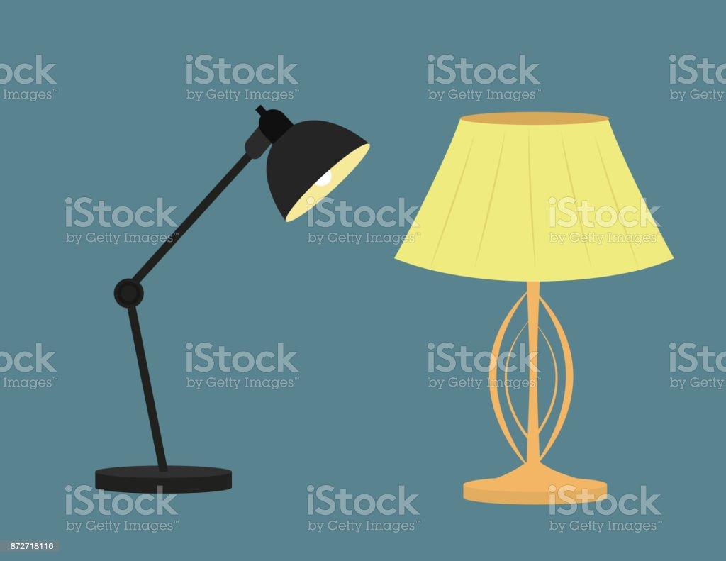 Moderne Knigliche Lampe Fr Schlafzimmer Und Bro Stock Vektor Art