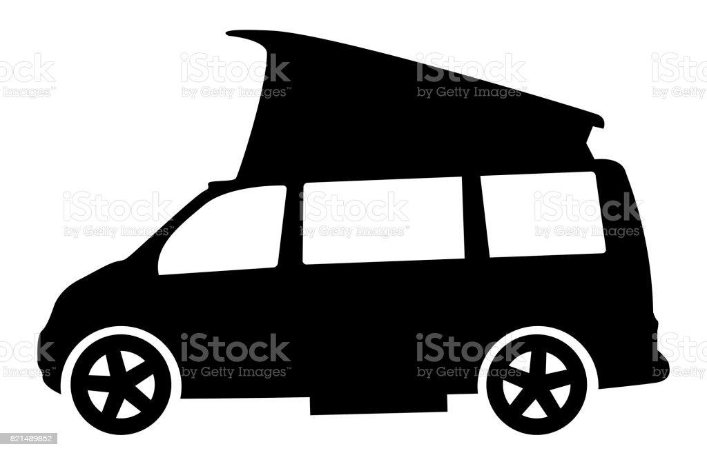 Modern RV Camper Van Silhouette Royalty Free Rv Stock Vector Art