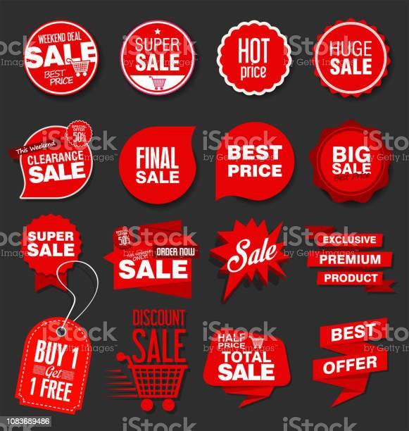 현대 판매 배너 및 레이블 컬렉션 가격에 대한 스톡 벡터 아트 및 기타 이미지
