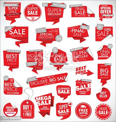 Modern sale banners and labels