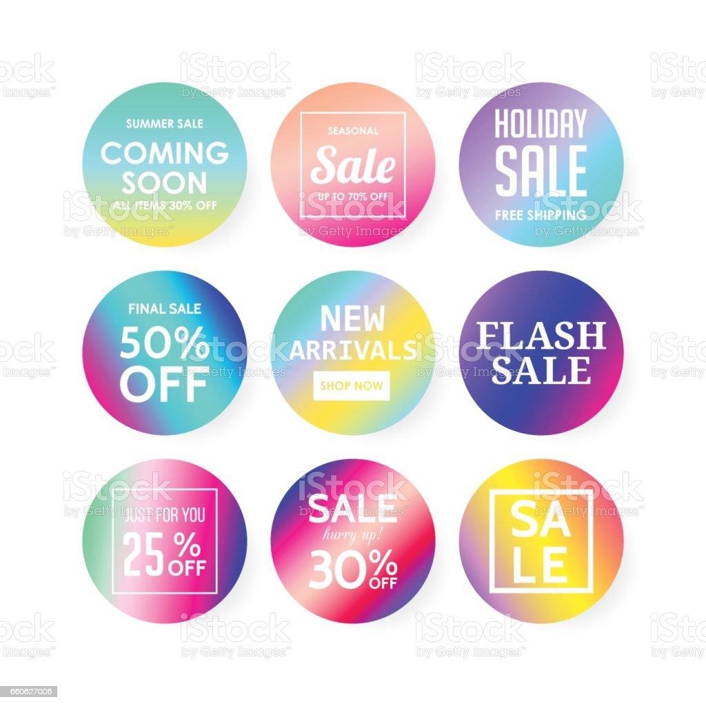 ソーシャル メディアとモバイル アプリの近代的な販売バナー
