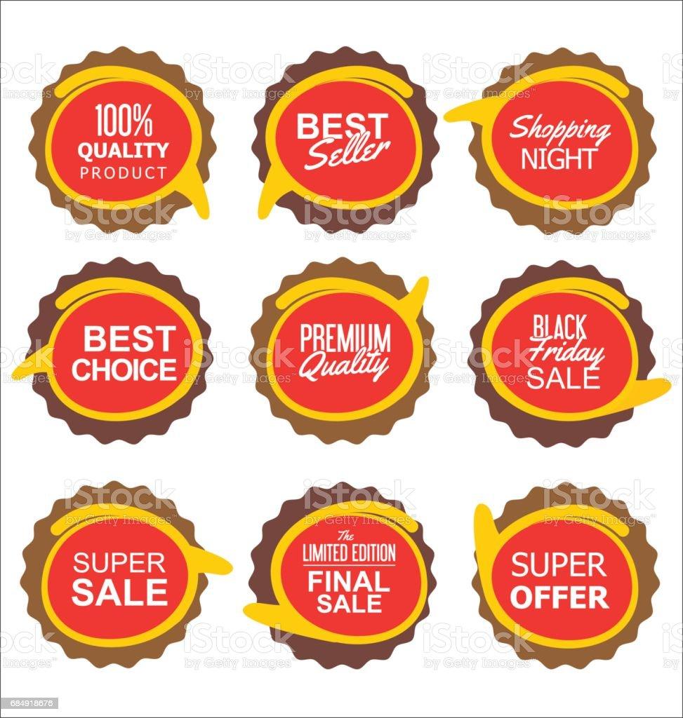 Modern sale stickers collection Lizenzfreies modern sale stickers collection stock vektor art und mehr bilder von abzeichen
