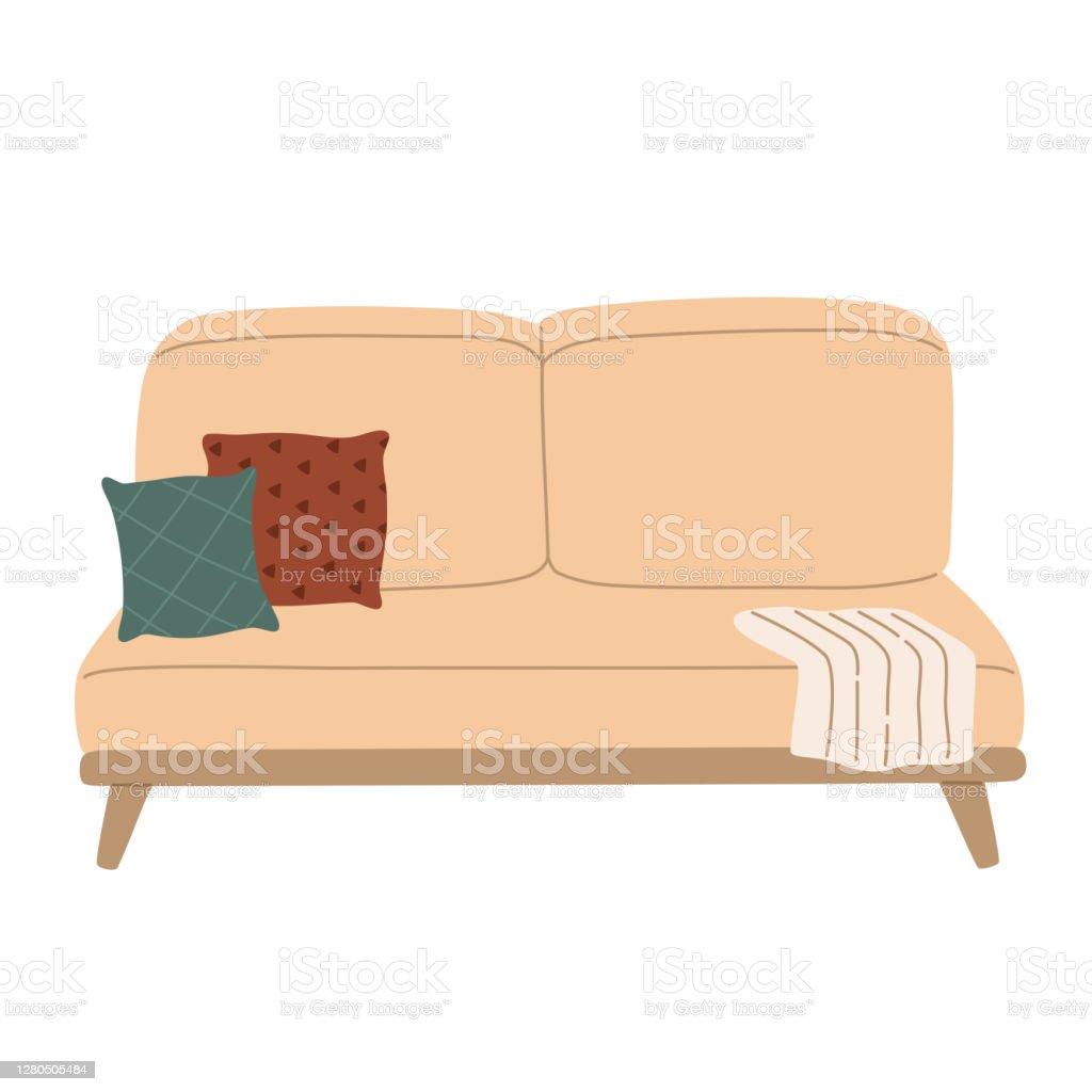 Moderne Skandinavische Sofa Fur Den Innenraum Dekoration Fur Wohnung Stock Vektor Art Und Mehr Bilder Von Behaglich Istock
