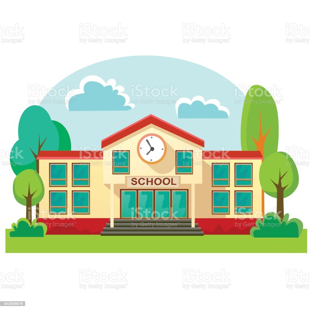 royalty free elementary school building clip art vector images rh istockphoto com school building clip art free school building clip art free
