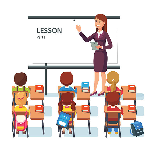 Modern Classroom Lesson Indicators ~ Royalty free lecture hall clip art vector images