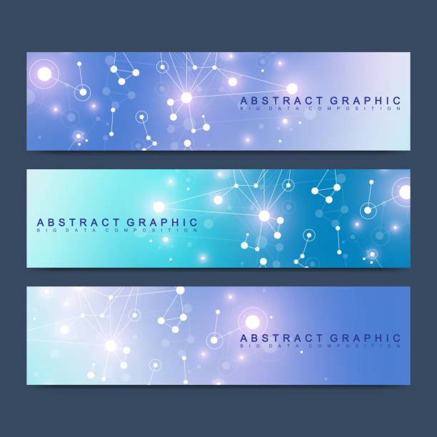 Modern scientific set of vector banners. Geometric abstract presentation. Molecule DNA and communication background for medicine, science, technology, chemistry. Cybernetic dots. Lines plexus Modern scientific set of vector banners. Geometric abstract presentation. Molecule DNA and communication background for medicine, science, technology, chemistry. Cybernetic dots. Lines plexus amino acid stock illustrations
