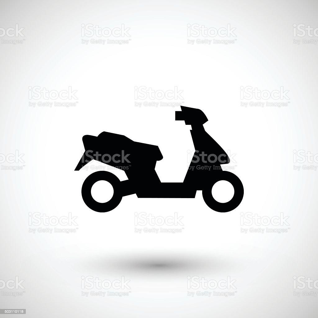 Modern scooter icon vector art illustration