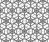 Modern seamless geometric ornament. Vector illustration. Line art design. For print, wallpaper, backgorund