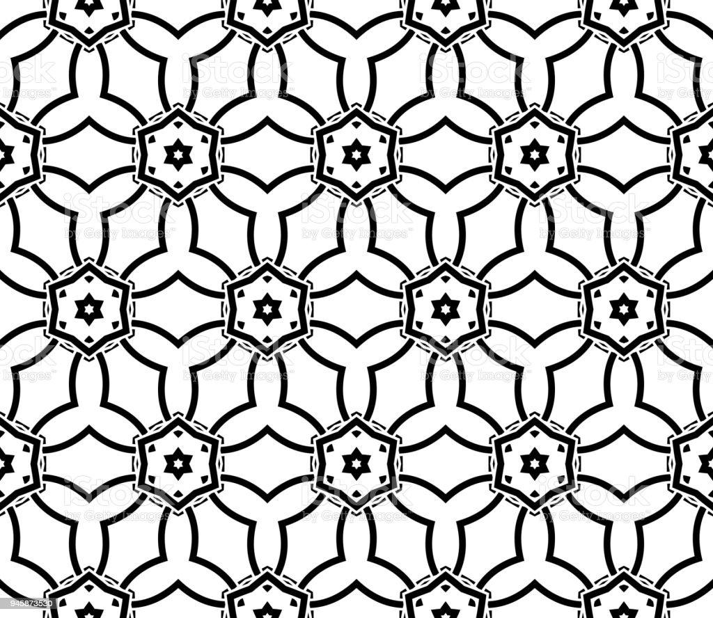 Moderne Nahtlose Geometrische Ornament. Vektor Illustration.  Line Kunst Design. Für