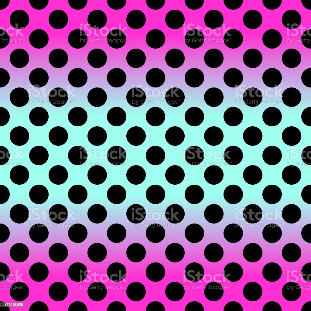 Modern Seamless Gradient Pink To Blue Polka Dot Pattern In