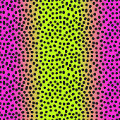 Modern seamless gradient pink to neon green leopard pattern in 80s 90s style for your decoration