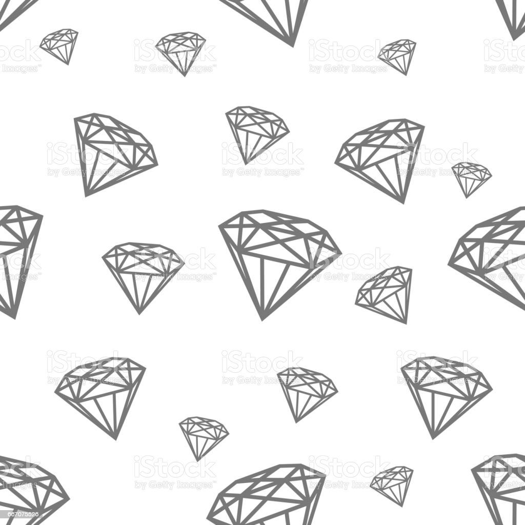 Modern seamless pattern with diamonds. Black jewerly pattern for modern fashion, cover, books, cloth vector art illustration