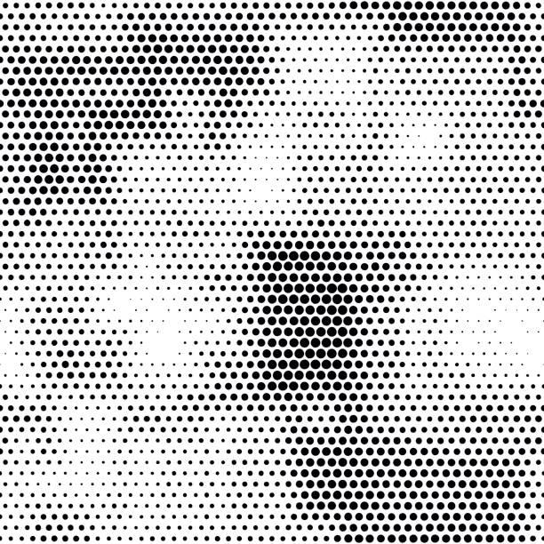 Moderne nahtlose Muster mit Punkten Übergang Halbton – Vektorgrafik
