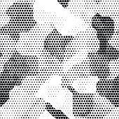 Modern seamless pattern with dots