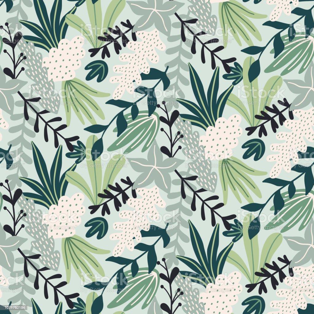 foto de Modern Seamless Pattern With Tropical Leaves Trendy Pattern Design ...