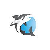 istock Modern Shark Fish Logo Illustration 1316954394