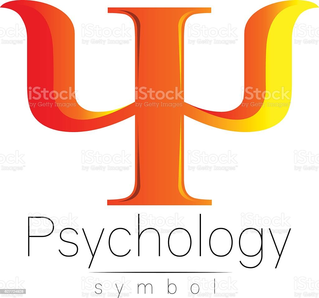 Modern Sign of Psychology. Psi. Creative style. Icon in vector