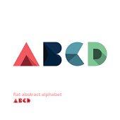 Modern Simple Abstract Colorful Alphabet - Flat Design - Vector Illustration - Web Design - Advertising Element