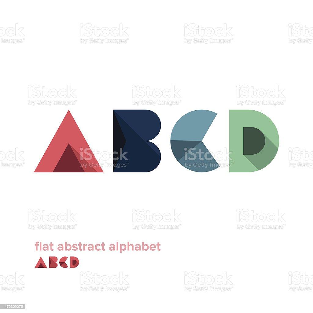 Modern Simple Abstract Colorful Alphabet vektör sanat illüstrasyonu