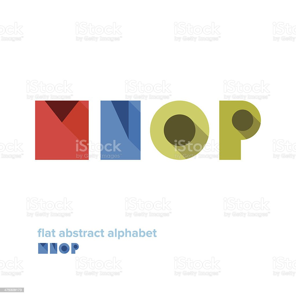 Modern Simple Abstract Colorful Alphabet royalty-free stock vector art