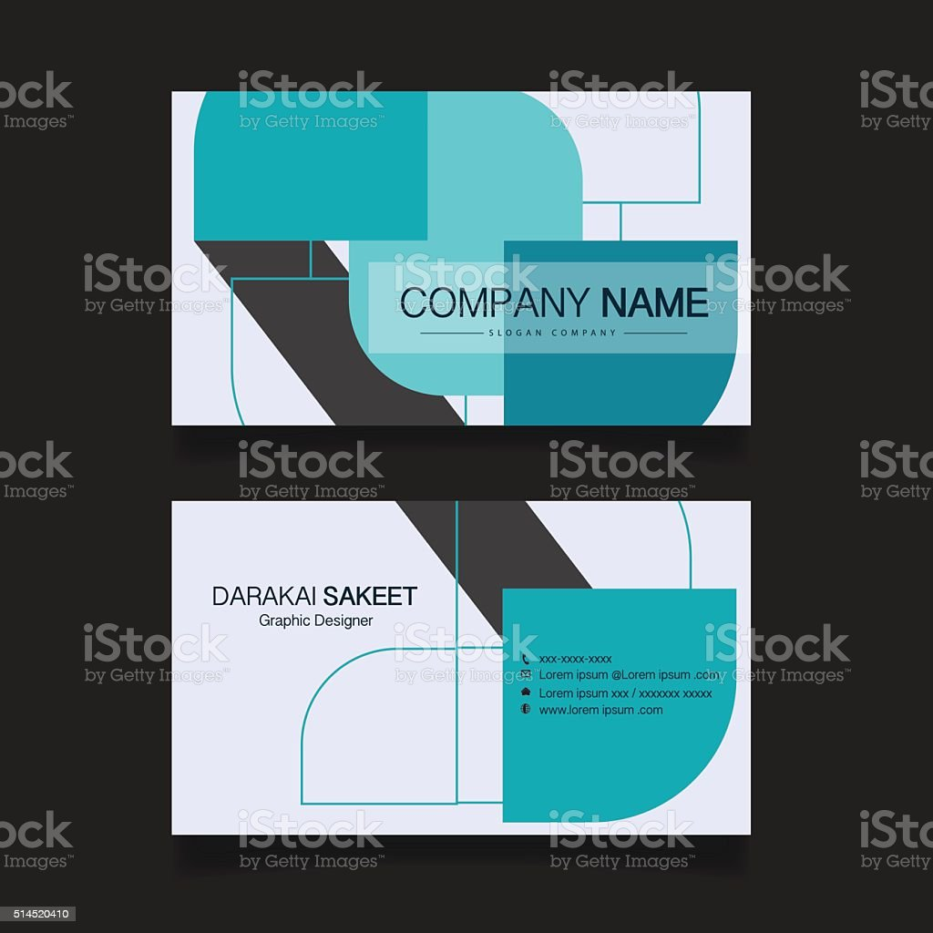 Modern simple business card template stock vector art more modern simple business card template royalty free modern simple business card template stock vector art colourmoves