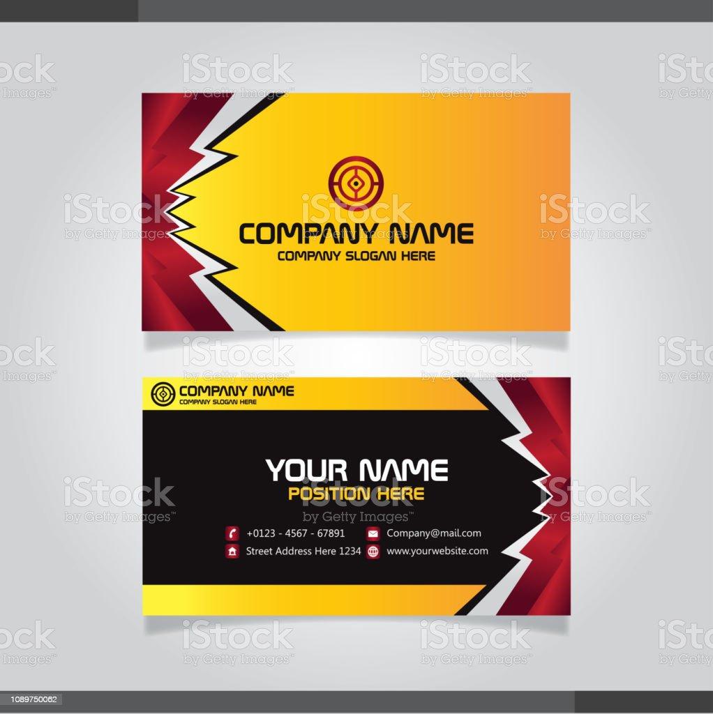 Moderne Einfache Visitenkarte Vektor Vorlage Stock Vektor
