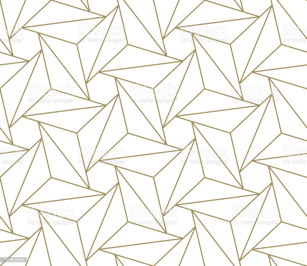 Modern Simple Geometric Vector Seamless Pattern With Gold