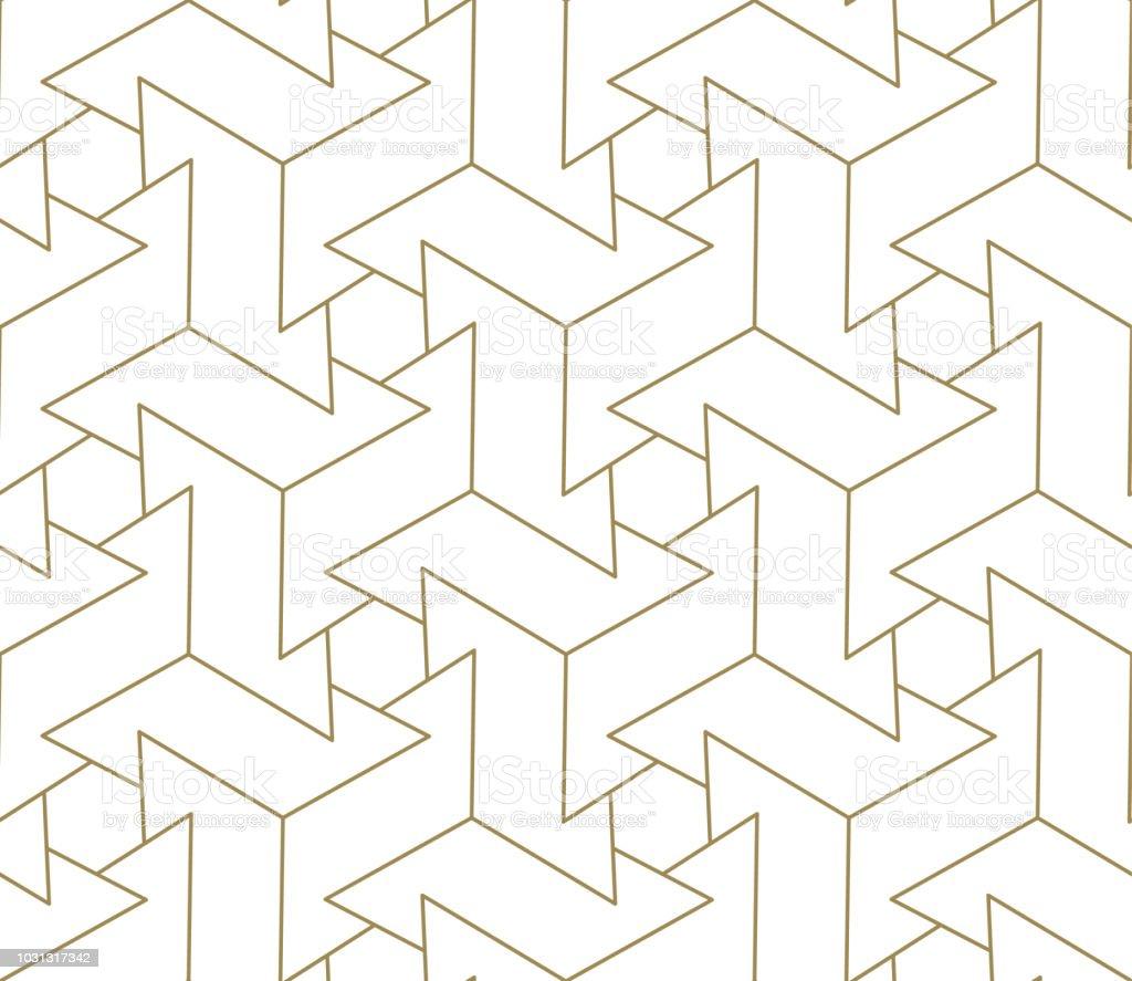 Modele Sans Couture De Vecteur Geometrique Simple Moderne Avec