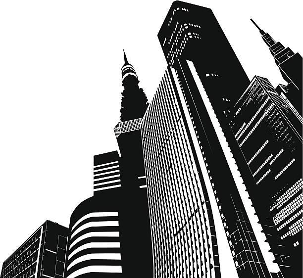 modern skyscrapers - tokyo - tokyo stock illustrations, clip art, cartoons, & icons