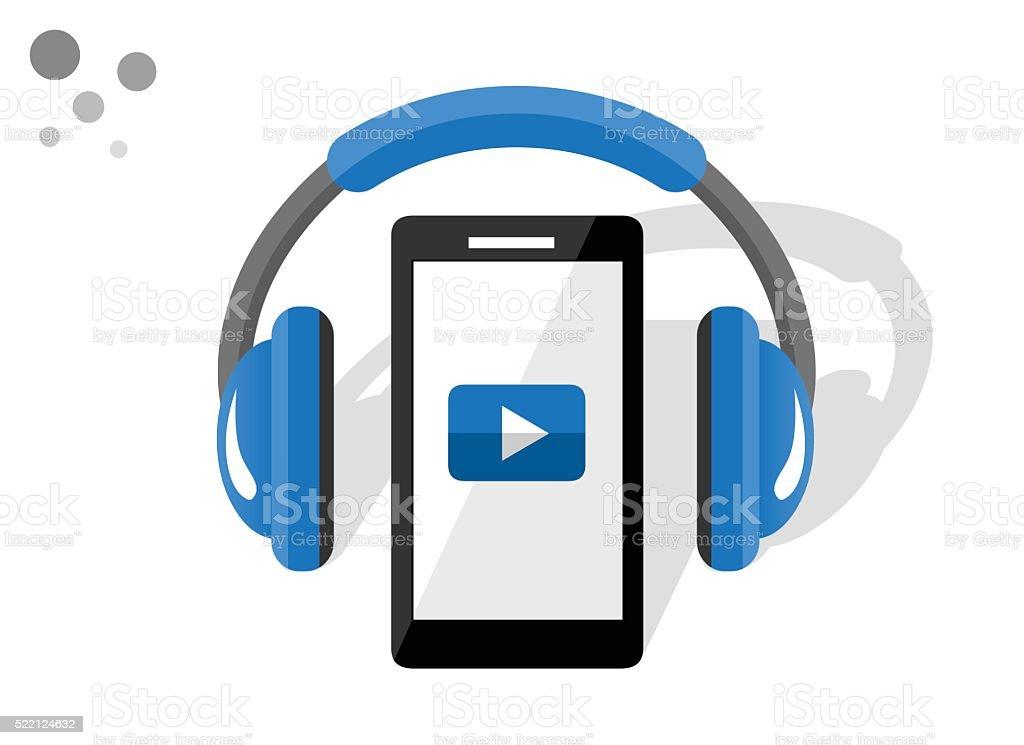 Modern smartphone vector art illustration