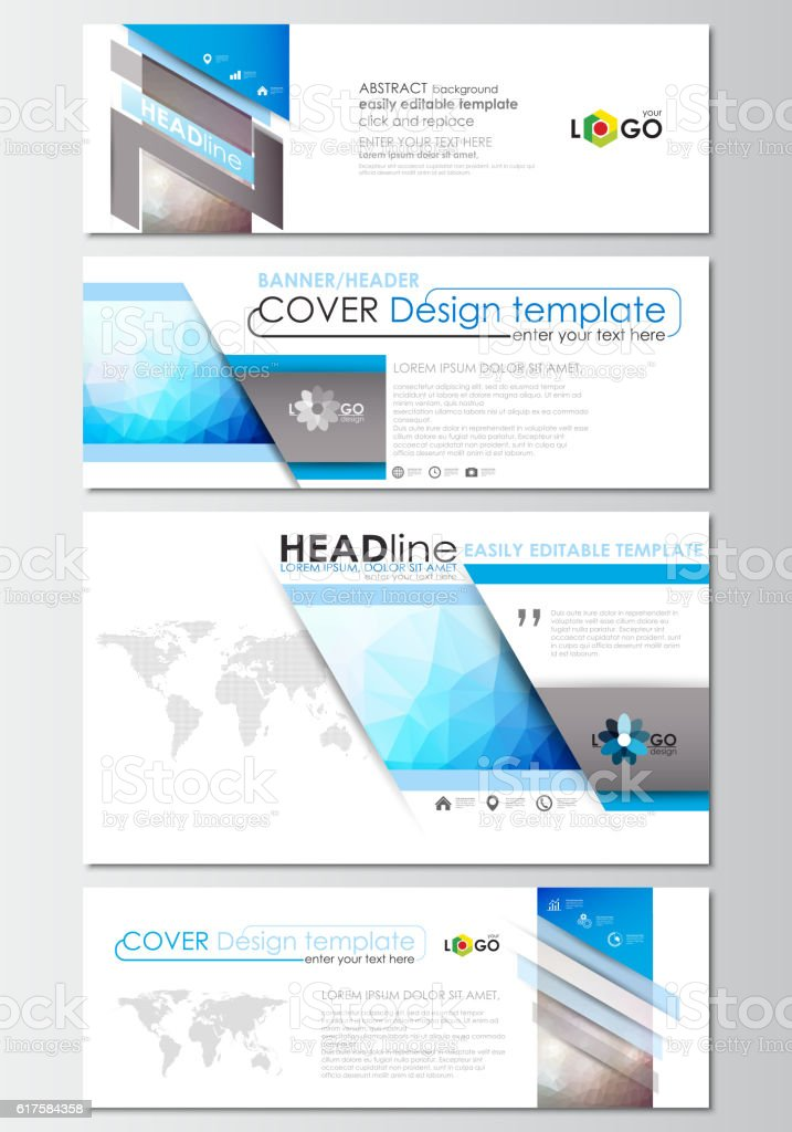 modern social media banners email headers business templates cover design stock vector art. Black Bedroom Furniture Sets. Home Design Ideas