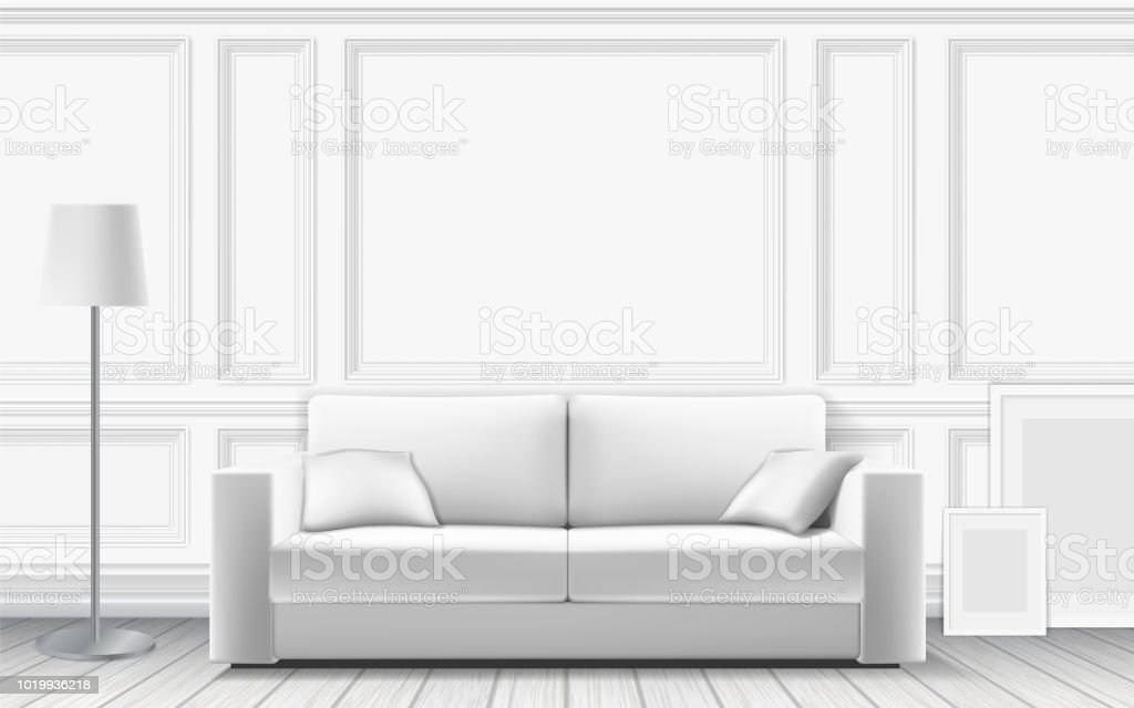 modern sofa on background of white wall stock illustration download image now istock modern sofa on background of white wall stock illustration download image now istock