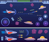 Modern Space Explorer Game User Interface Template Illustration