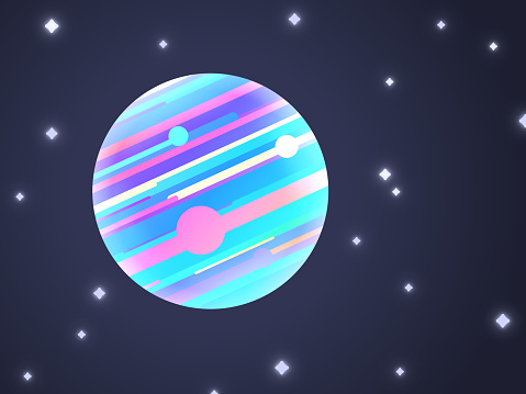 Modern Space Planet Background