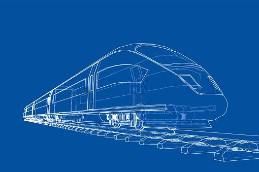 Modern speed train concept. Vector