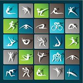 Modern sport icons for mobile devices and interfaces